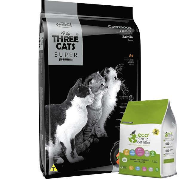 Racao Seca Three Cats Super Premium Salmao para Gatos Castrados 6 Meses 2425243 1
